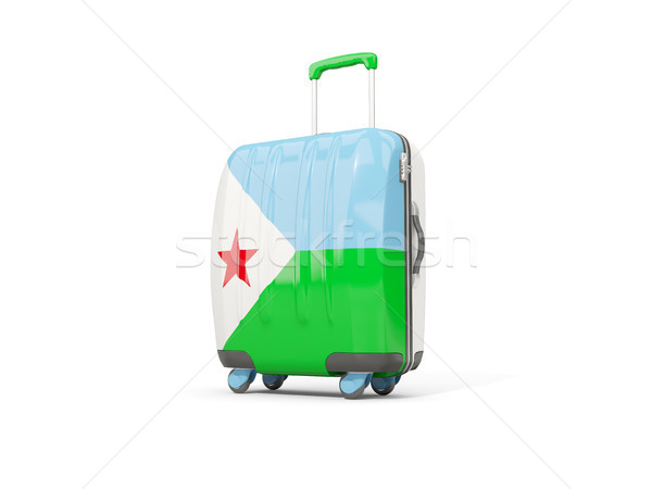 Luggage with flag of djibouti. Suitcase isolated on white Stock photo © MikhailMishchenko