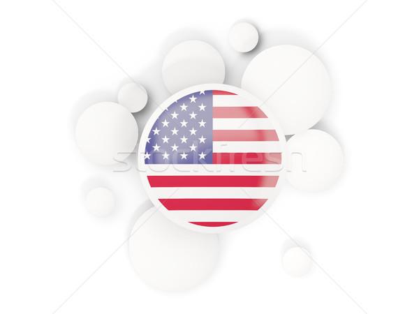 Bayrak Amerika circles model yalıtılmış beyaz Stok fotoğraf © MikhailMishchenko