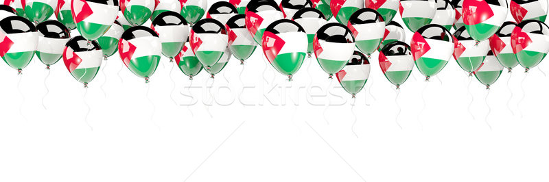 Balloons frame with flag of palestinian territory Stock photo © MikhailMishchenko