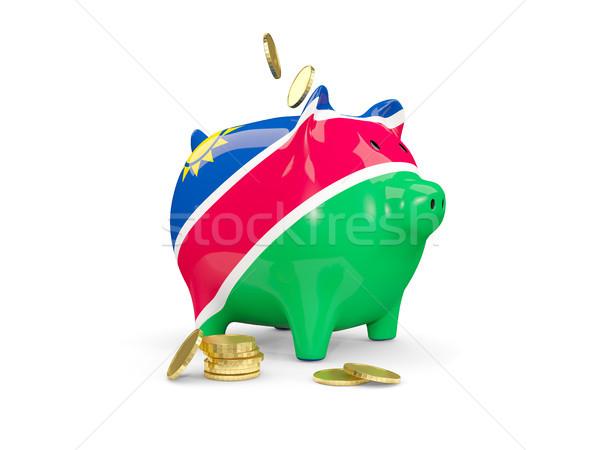 жира Piggy Bank Намибия деньги изолированный белый Сток-фото © MikhailMishchenko