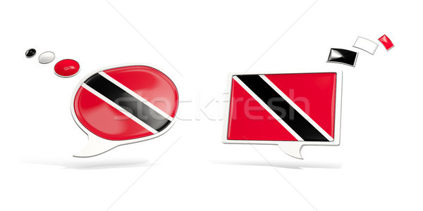 Two chat icons with flag of trinidad and tobago Stock photo © MikhailMishchenko