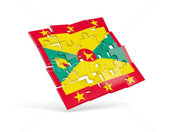 Puzzle zászló Grenada izolált fehér 3d illusztráció Stock fotó © MikhailMishchenko