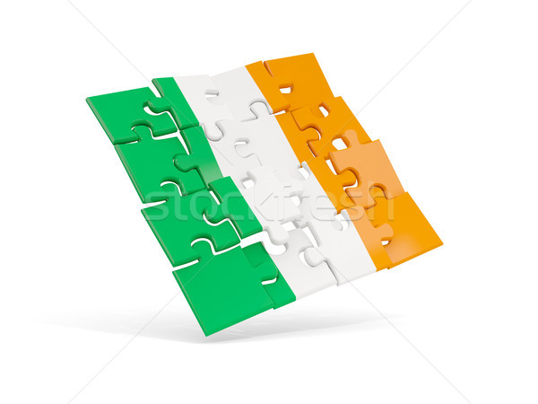 Puzzle flag of ireland isolated on white Stock photo © MikhailMishchenko