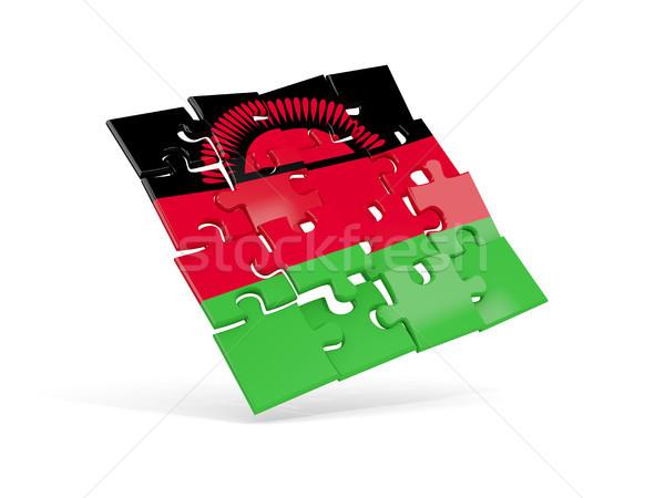головоломки флаг Малави изолированный белый 3d иллюстрации Сток-фото © MikhailMishchenko