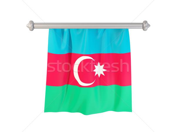 Bandera Azerbaiyán aislado blanco 3d etiqueta Foto stock © MikhailMishchenko