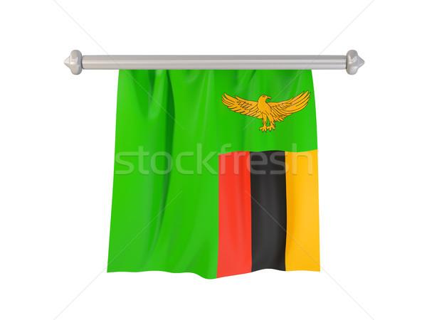флаг Замбия изолированный белый 3d иллюстрации Label Сток-фото © MikhailMishchenko