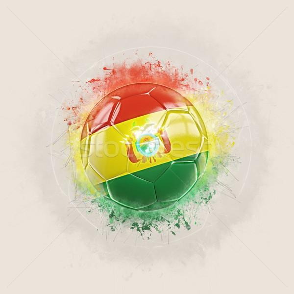 Гранж футбола флаг Боливия 3d иллюстрации Мир Сток-фото © MikhailMishchenko