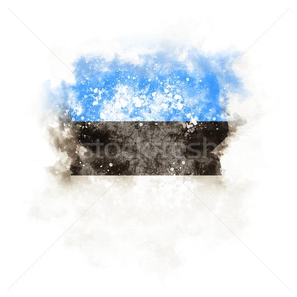 広場 グランジ フラグ エストニア 3次元の図 レトロな ストックフォト © MikhailMishchenko