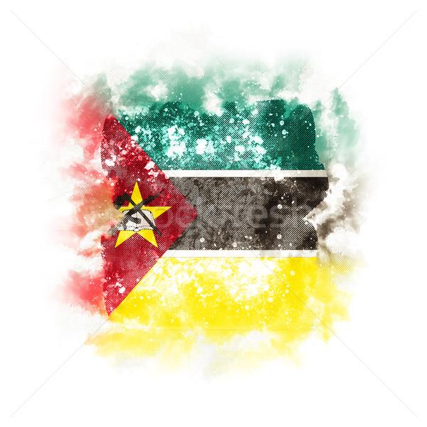 Square grunge flag of mozambique Stock photo © MikhailMishchenko
