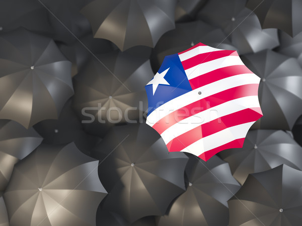 Umbrella with flag of liberia Stock photo © MikhailMishchenko