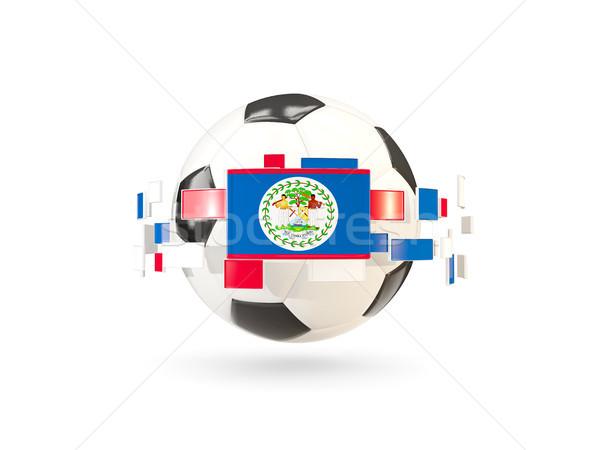 Futballabda vonal zászlók zászló Belize lebeg Stock fotó © MikhailMishchenko
