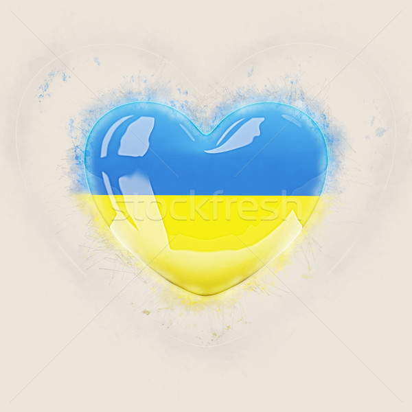 Heart with flag of ukraine Stock photo © MikhailMishchenko