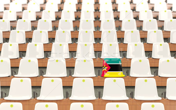 Stadium seat with flag of mozambique Stock photo © MikhailMishchenko