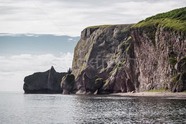 Cliffs on the beach at the sea of Japan Stock photo © MikhailMishchenko