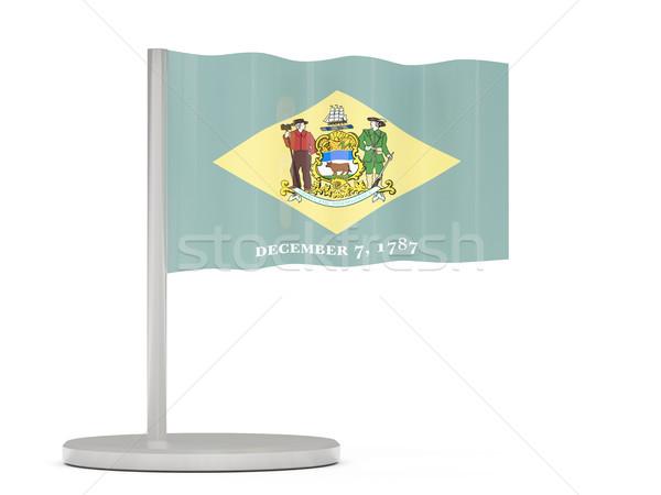 Bandeira pin Delaware Estados Unidos local bandeiras Foto stock © MikhailMishchenko
