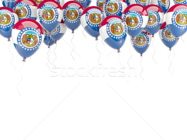 Globos marco bandera Misuri Estados Unidos local Foto stock © MikhailMishchenko