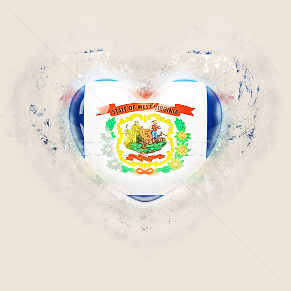 west virginia state flag on a grunge heart. United states local  Stock photo © MikhailMishchenko