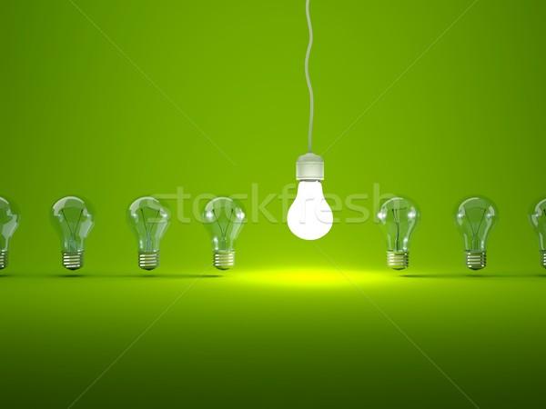 Stok fotoğraf: Ampuller · yeşil · teknoloji · enerji · elektrik