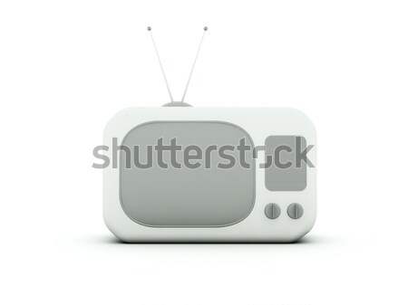 Old TV isolated on white Stock photo © MikhailMishchenko