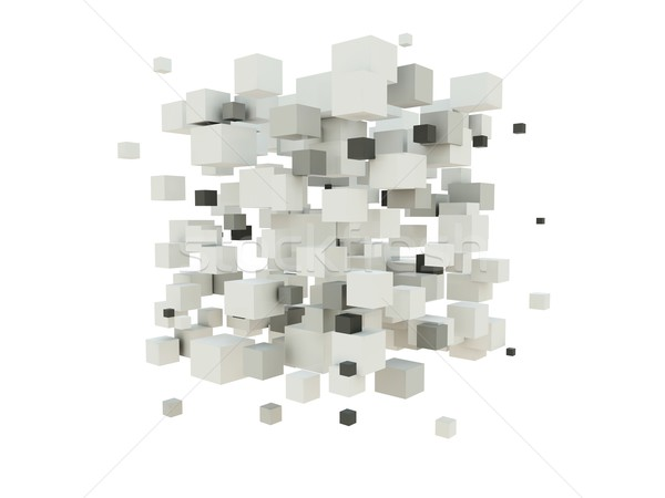 Abstract background from cubes Stock photo © MikhailMishchenko