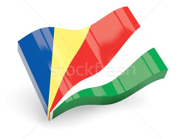3D zászló Seychelle-szigetek izolált fehér utazás Stock fotó © MikhailMishchenko