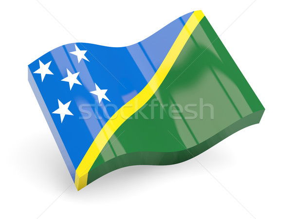 3d flag of solomon islands Stock photo © MikhailMishchenko