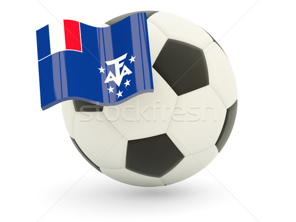 Football with flag of french southern territories Stock photo © MikhailMishchenko