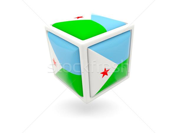 флаг Джибути куб икона изолированный белый Сток-фото © MikhailMishchenko