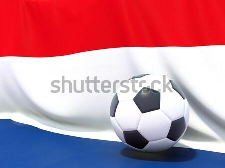 Vlag Puerto Rico voetbal team land Stockfoto © MikhailMishchenko