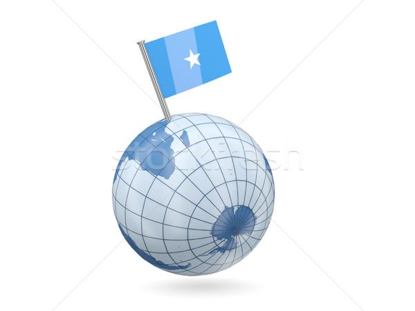 świecie banderą Somali niebieski odizolowany biały Zdjęcia stock © MikhailMishchenko