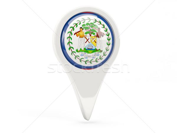 Stock fotó: Zászló · ikon · Belize · izolált · fehér · térkép