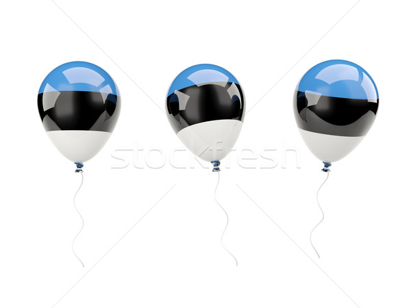 Air balloons with flag of estonia Stock photo © MikhailMishchenko