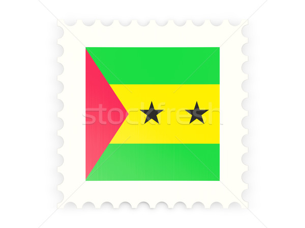 Postage stamp icon of sao tome and principe Stock photo © MikhailMishchenko