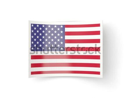 Ikon Amerika Birleşik Devletleri Amerika yalıtılmış beyaz Stok fotoğraf © MikhailMishchenko