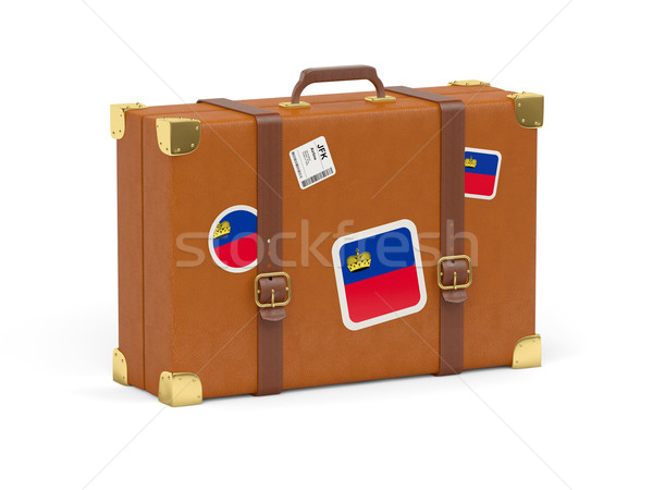 Suitcase with flag of liechtenstein Stock photo © MikhailMishchenko