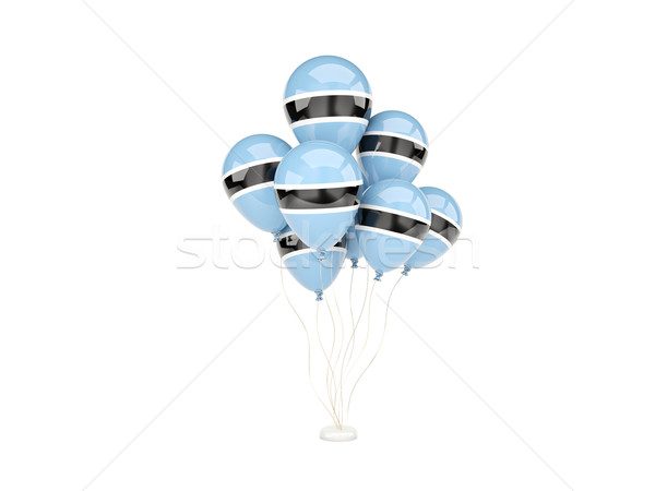 Uçan balonlar bayrak Botsvana yalıtılmış beyaz Stok fotoğraf © MikhailMishchenko