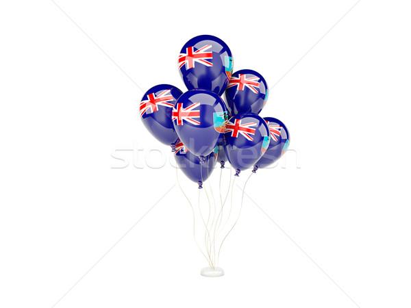 Flying balloons with flag of montserrat Stock photo © MikhailMishchenko