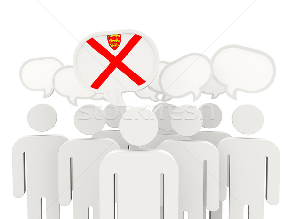 People with flag of jersey Stock photo © MikhailMishchenko
