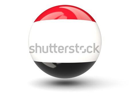 икона флаг Йемен изолированный белый путешествия Сток-фото © MikhailMishchenko