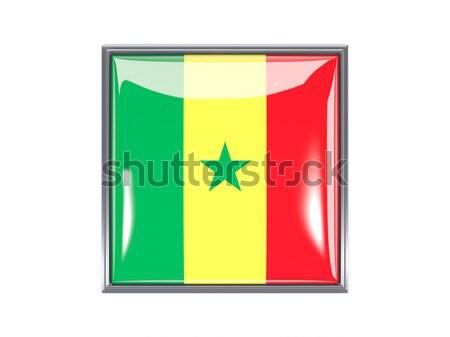 Square icon with flag of burkina faso Stock photo © MikhailMishchenko