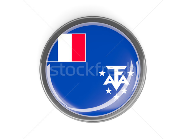 Round button with flag of french southern territories Stock photo © MikhailMishchenko