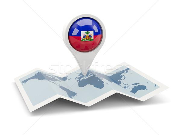 ピン フラグ ハイチ 地図 旅行 白 ストックフォト © MikhailMishchenko