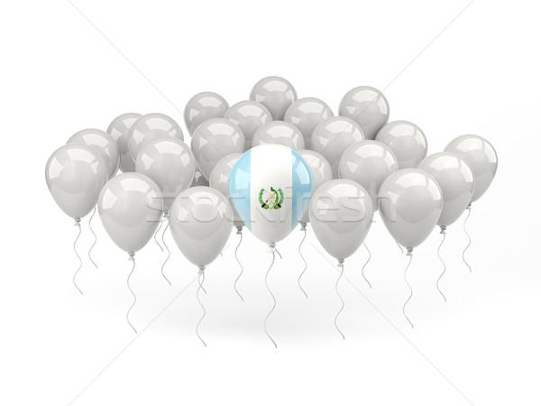 Air balloons with flag of guatemala Stock photo © MikhailMishchenko