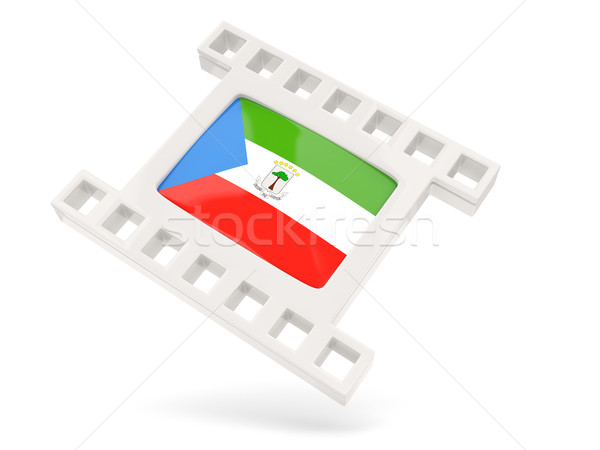 Filme ícone bandeira Guiné Equatorial isolado branco Foto stock © MikhailMishchenko