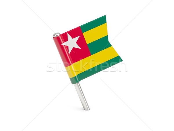 Bandiera pin Togo isolato bianco Foto d'archivio © MikhailMishchenko