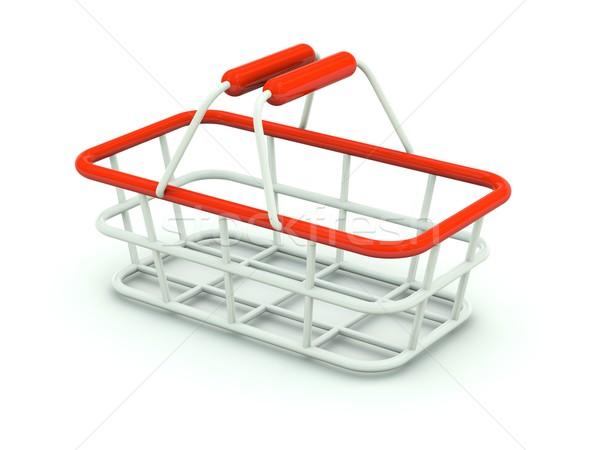 手 ショッピングカート 孤立した 白 赤 ショップ ストックフォト © MikhailMishchenko