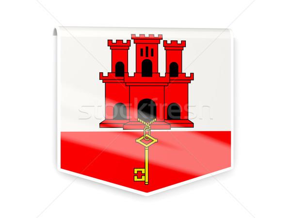 Banderą etykiety gibraltar odizolowany biały podpisania Zdjęcia stock © MikhailMishchenko