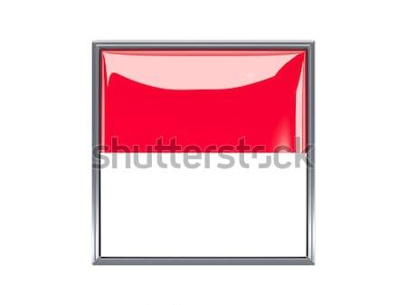 квадратный Label флаг Монако изолированный белый Сток-фото © MikhailMishchenko