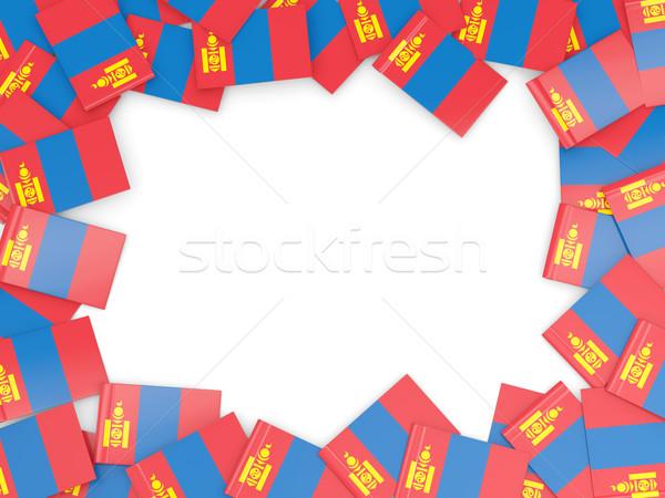 Frame vlag Mongolië geïsoleerd witte Stockfoto © MikhailMishchenko