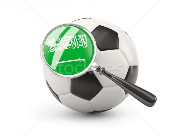 サッカー 拡大された フラグ サウジアラビア 孤立した 白 ストックフォト © MikhailMishchenko